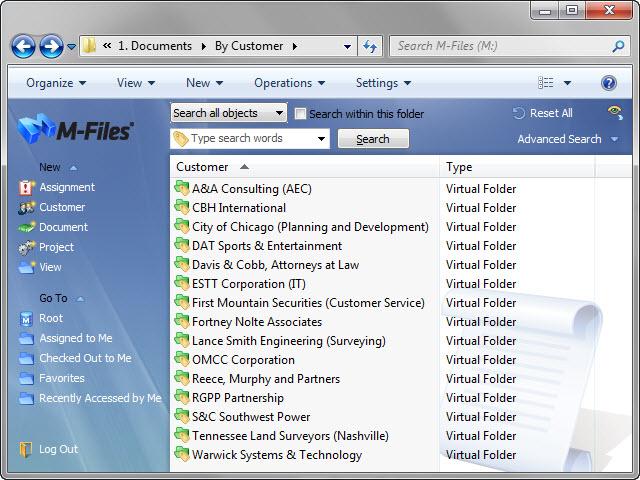 M-Files Screenshot 1